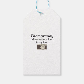 pstvimhPhotography silences the voices in my head Gift Tags