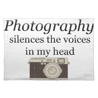 pstvimhPhotography silences the voices in my head Placemat