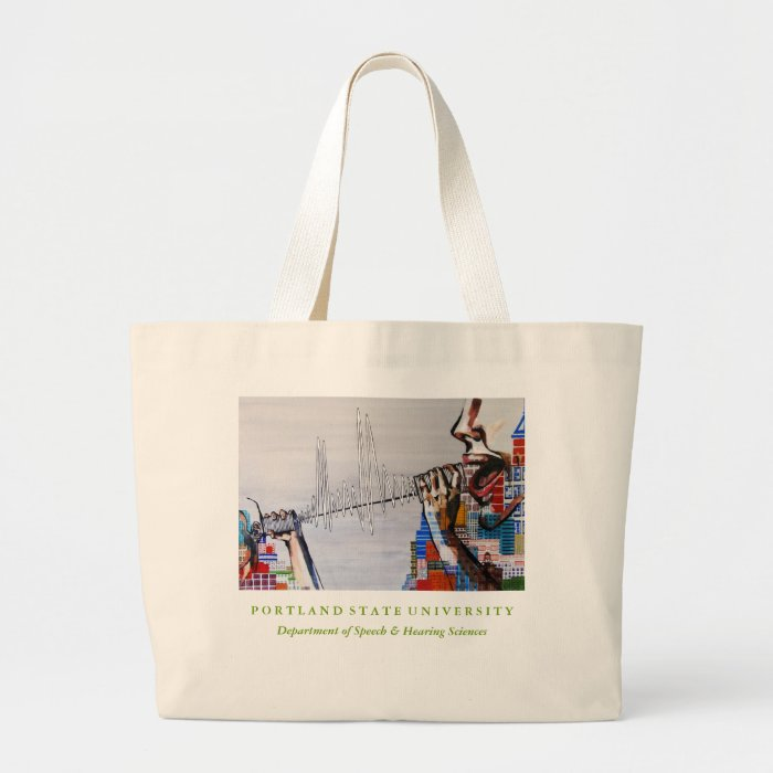 PSU SPHR Large Cotton Tote Bag (in Natural)