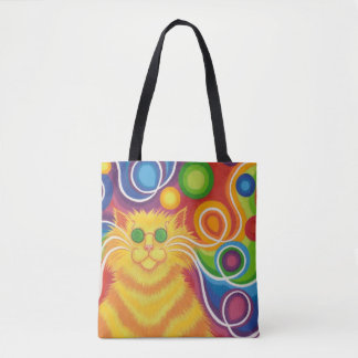 Psy-cat-delic all over tote bag