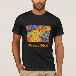 'Psy-cat-delic 'Groovy Man!' t-shirt