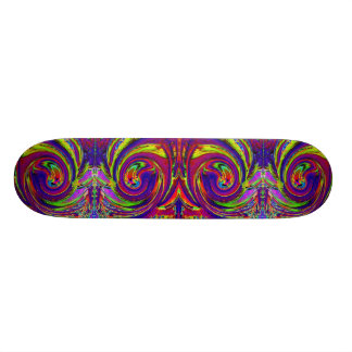 Psycedelic Swirls Cool Skateboard