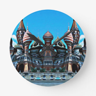 Psycgedelic Moscow Round Clock