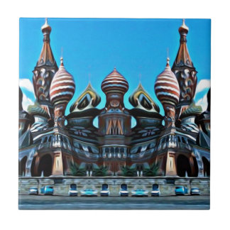 Psycgedelic Moscow Small Square Tile