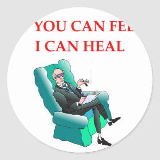 psych classic round sticker