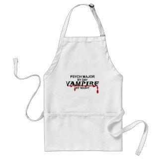 Psych Major Vampire by Night Standard Apron