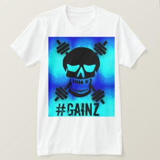 Psychdelic Blue Barbell Skull T-Shirt
