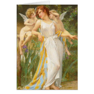 Psyche and Little Cupids Greeting Card