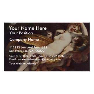 Psyche Is Kidnapped By The Winds,  By Prud'Hon Pie Business Card Template