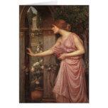 Psyche Opening the Door into Cupid's Garden Greeting Cards