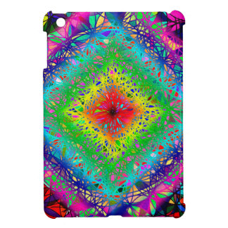 Psychedeli colors and Crystal Case For The iPad Mini