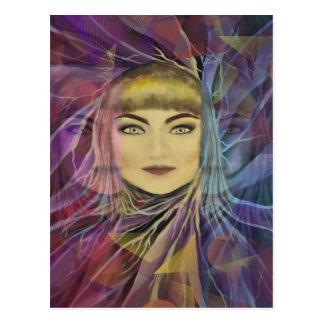 Psychedelia Dreamy Girl Postcard