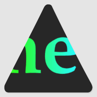 Psychedelia Triangle Sticker
