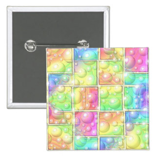 Psychedelic 15 Cm Square Badge