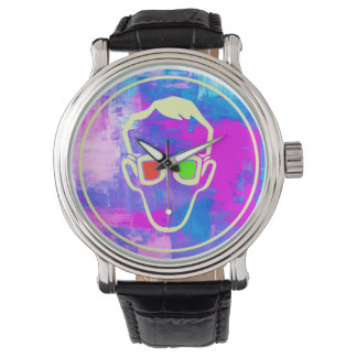 Psychedelic 3D Glasses Hipster Watch