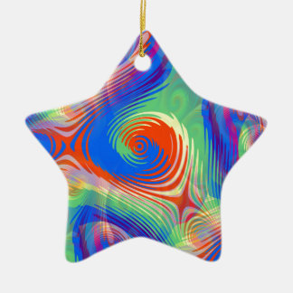psychedelic #6 ceramic ornament