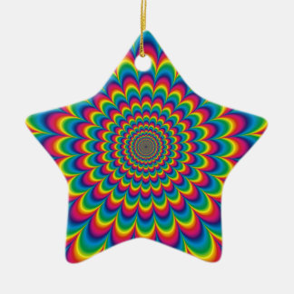 psychedelic #7 ceramic ornament