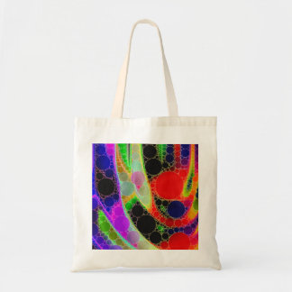 Psychedelic Abstract Budget Tote Bag