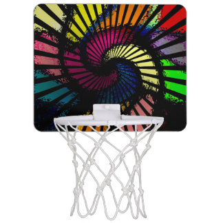 Psychedelic Abstract Design Mini Basketball Hoop