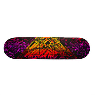 """Psychedelic Abstract Diamond 7 7/8"""" Skate Deck"""