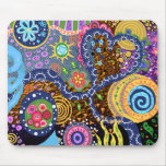 Psychedelic abstract pattern mousepad