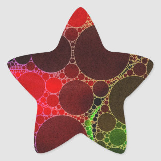 Psychedelic Abstract Star Sticker