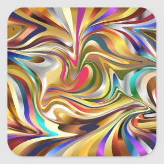 psychedelic abstract stickers