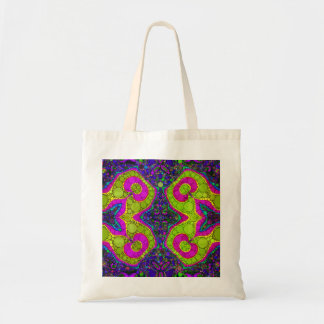 Psychedelic Abstract Twirls Budget Tote Bag