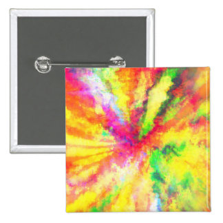 Psychedelic Abstract Watercolor Art 15 Cm Square Badge
