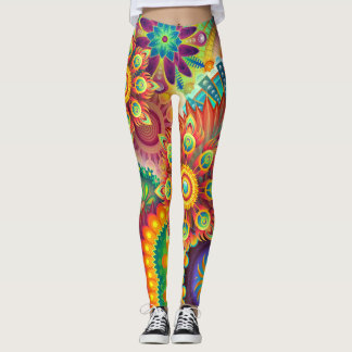 psychedelic acid meditation gym yoga leggings