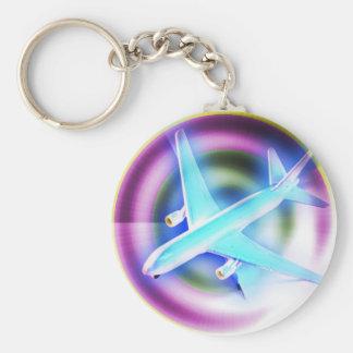 Psychedelic Aeroplane Key Chains