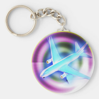 Psychedelic Aeroplane Key Chains