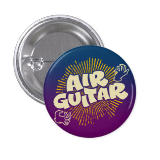 Psychedelic Air Guitar Retro Flair Pinback 3 Cm Round Badge