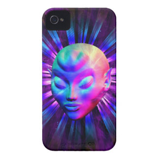 Psychedelic Alien Meditation iPhone 4 Cases