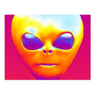 Psychedelic Alien Postcard
