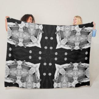 Psychedelic Astronaut Moon Mandala Fleece Blanket