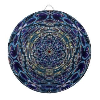 Psychedelic Atom Portal Pattern Dartboard