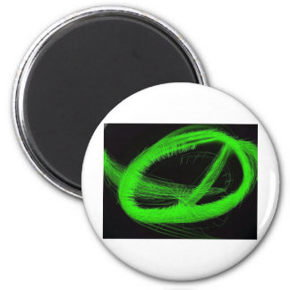 Psychedelic, awesome out of this world groovy item 6 cm round magnet