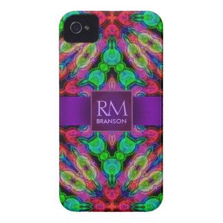 Psychedelic Batik Monogram iPhone4 Case-Mate™ Case-Mate iPhone 4 Cases