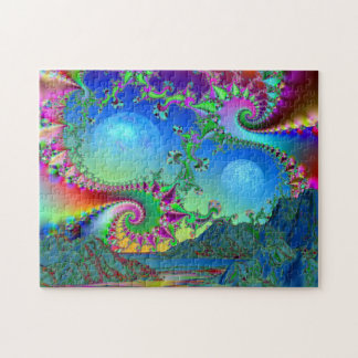 Psychedelic bay jigsaw puzzle