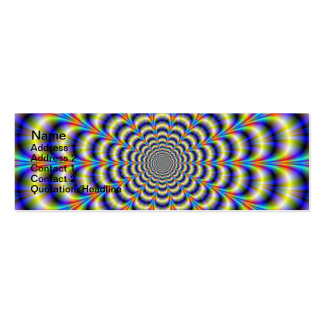 Psychedelic Beat Revisited Card Double-Sided Mini Business Cards (Pack Of 20)