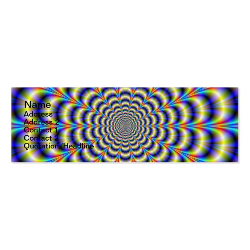 Psychedelic Beat Revisited Card Business Card Template