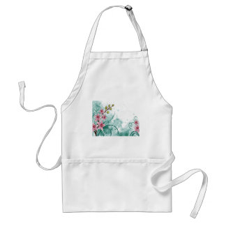 psychedelic beautiful flower abstract standard apron