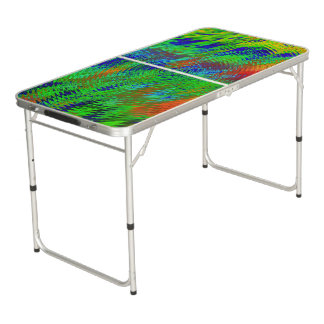 Psychedelic Beer Pong Tailgate Table Pong Table