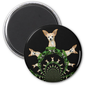 Psychedelic Beige And White Chihuahua Magnet