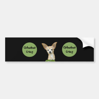 Psychedelic Beige And White Humorous Chihuahua Bumper Sticker