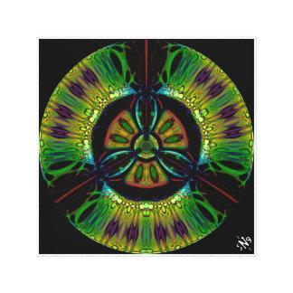 Psychedelic bio-hazard symbol (or whatever u see) canvas print