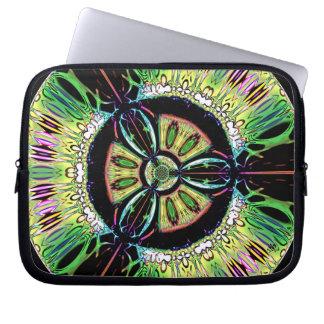 Psychedelic bio-hazard symbol (or whatever u see) laptop sleeve