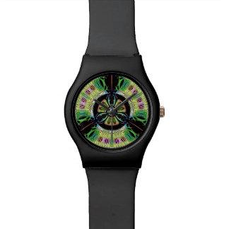 Psychedelic bio-hazard symbol (or whatever u see) watch