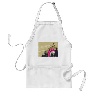 psychedelic birds south abstract standard apron